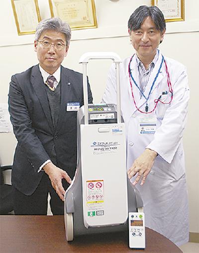 移動できる酸素濃縮装置
