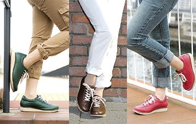 ひざに優しい靴で春を楽しく