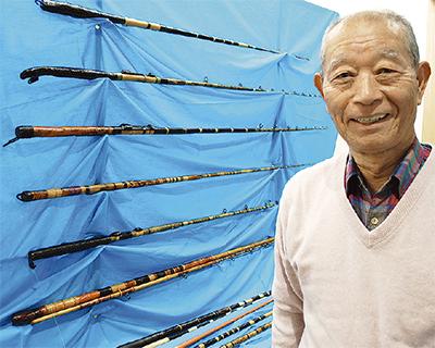 金沢の竹、優雅な和竿に