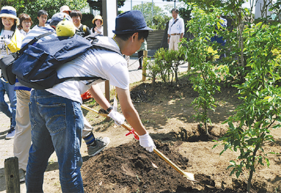 ゆずの苗木で20周年祝う