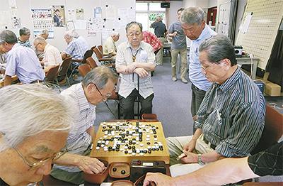 能見台で囲碁大会