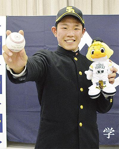 増田選手、SB(ソフトバンク)から3位指名