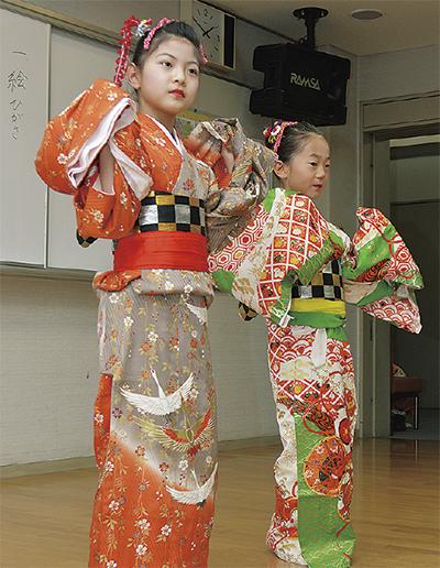 根岸の子ども、日舞で魅了