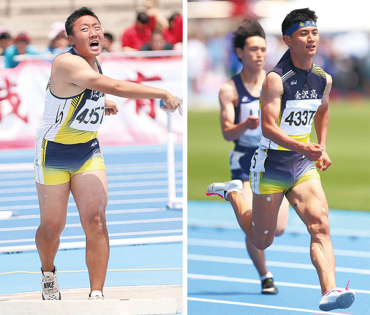 木村選手(左)と安田選手