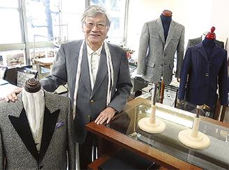 飾り用にもなるミニチュア服と遠藤理事長