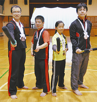 メダルを獲得した4選手