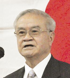 街づくりへの思いを語る田中会長