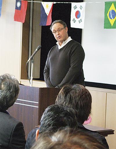 外国人が日本語スピーチ