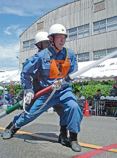 消防団が訓練会
