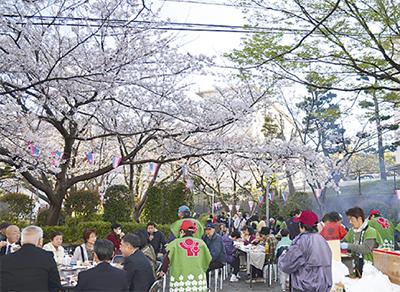 桜まつりに多くの人出
