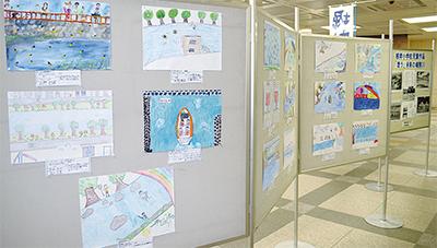 「未来の堀割川」絵画を展示