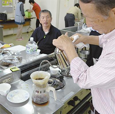 コーヒー豆の配合学ぶ