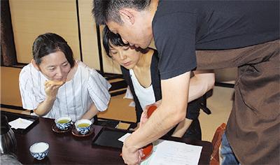 日本茶淹れ方プロが指導