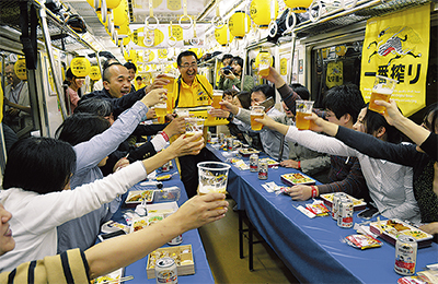 夢のビール電車運行