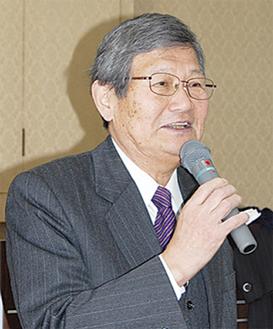方針について語る遠藤理事長