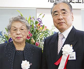 小原会長(右)と小林会長