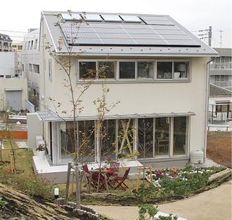 一般公開されている脱温暖化モデル住宅(緑区)