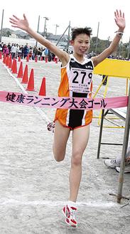 中学女子で優勝した脇坂さん