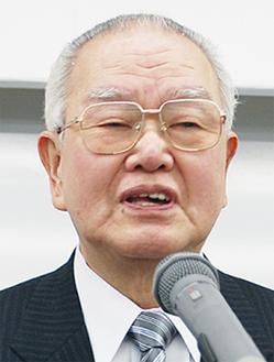 地域住民との協力を説く早川会長