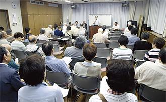 多くの住民が参加した報告会