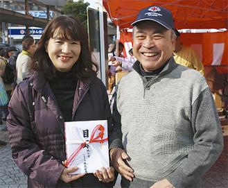 瀬川会長(右)と光田さん