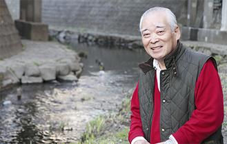 大岡川への思いを語る山野井さん
