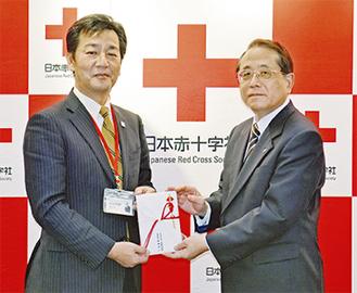 木部社長(左)と近藤事務局長