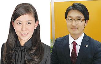 水口弁護士(左)と高栁弁護士
