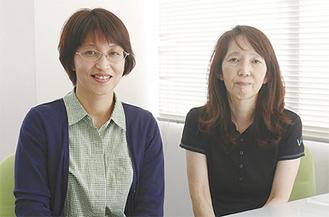 YMSNの鈴木理事長(右)と金山さん