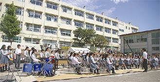 港南中学校吹奏楽部の演奏