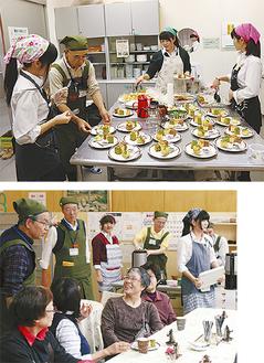 お菓子作りから提供まで協力するGSJと南高料理部