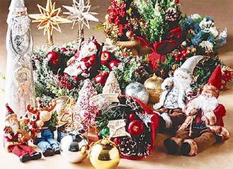 クリスマスシーンを演出する商品が充実