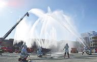 消防、警察連携で盛大に