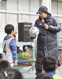 少年を指導する木村さん