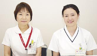 フオンさん(右)と看護部長の近松さん
