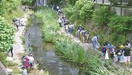 住民ら大岡川を清掃