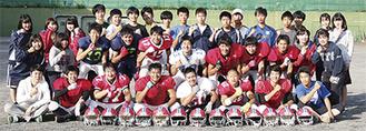 横浜栄高アメフト部のメンバー
