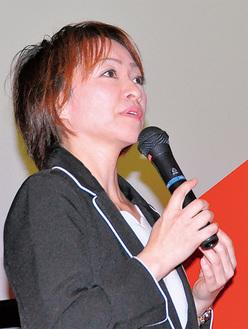 シングルマザーの現状と支援策を訴える江成さん