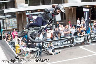 BMXフリースタイル種目で活躍する丹野さん