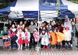 雨天での開催となった昨年のハロウィン