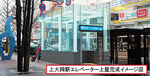 地上に整備される上大岡駅エレベーター上屋の完成イメージ