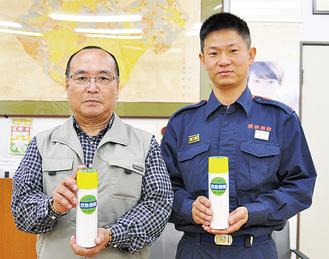 加藤会長(左)と田辺所長
