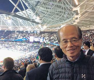 2015年にロンドンで開催されたラグビーワールドカップを視察。世界のラグビー人気を体感