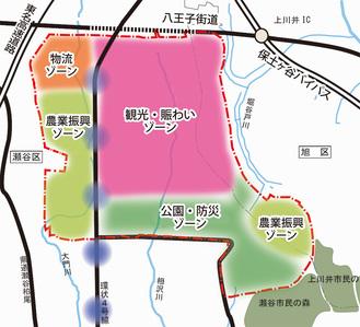 土地利用のゾーン案(市より提供)