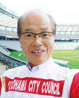 現場主義がモットー(8月16日、ラグビーW杯を控えて東京スタジアムを視察)