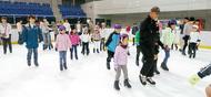 真夏にアイススケート