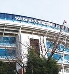 改修工事が進む横浜スタジアム(レフト側ウイング席の外観)