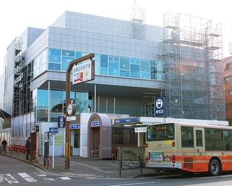3月に完成予定の港南公会堂(12月26日撮影)