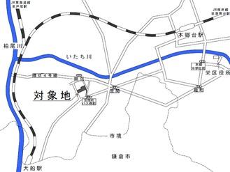 対象地の位置図(市発表資料より)