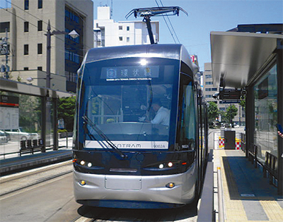 富山でLRT(次世代型路面電車システム)を視察